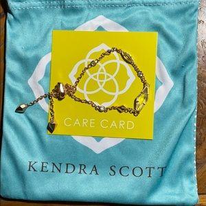 Kendra Scott deb adjustable rose gold bracelet